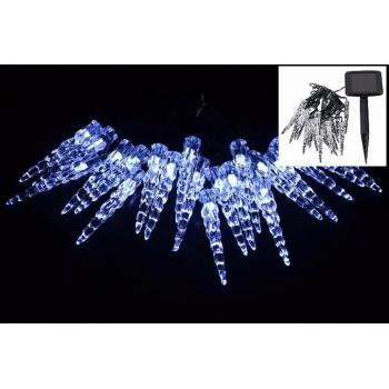 Vánoční solární řetěz - rampouchy, 20 x svítící LED dioda