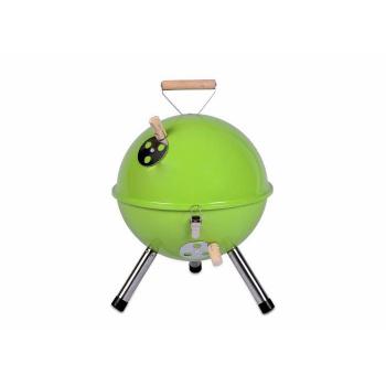 Kotlíkový přenosný mini gril v retro stylu, zelený