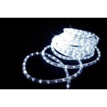 Světelný kabel venkovní / vntřní, bílý, LED diody, 20 m