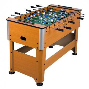 Masivní stolní fotbal, kovové hrany, 128x62x87 cm