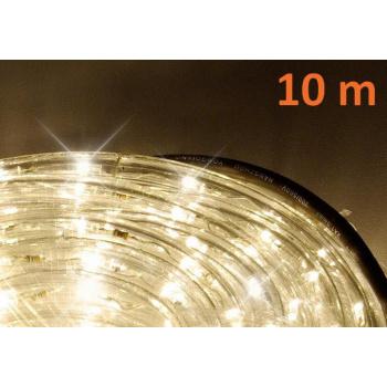 Světelný kabel venkovní / vnitřní, teple bílý, LED diody, 10 m