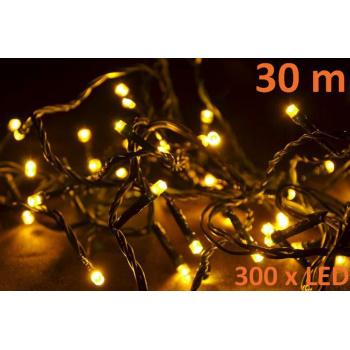 Vánoční LED řetěz venkovní / vnitřní, 300 LED diod, 30 m