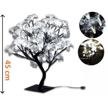 Umělý svítící strom s květy 45 cm, dekorativní osvětelní do bytu