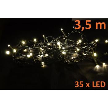 Vánoční osvětlení na stromeček vnitřní, 35 LED diod, 4,9 m
