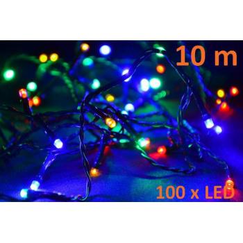 Vánoční svítící řetěz na stromeček venkovní / vnitřní, 100 LED diod, 10 m