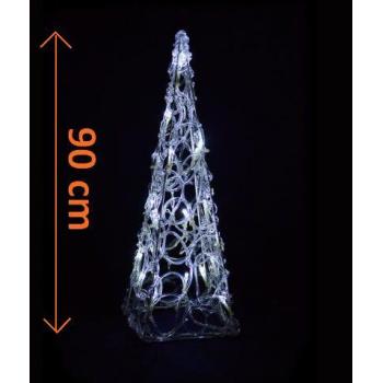 Dekorativní svítící kužel s LED diodami venkovní / vnitřní, 90 cm