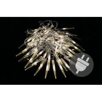 Vánoční LED řetěz - rampouchy (krápníky), 60 ks, 6,7 m