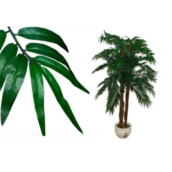 Umělá kokosová palma jako živá, kmen z pravého dřeva, 150 cm