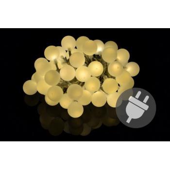 Venkovní ozdobné osvětlení - světelný řetěz s koulemi, 50 LED diod
