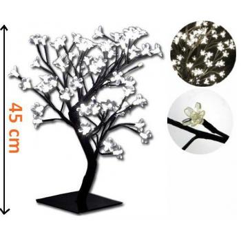 Dekorativní osvětlený strom s květy venkovní / vnitřní, 45 cm