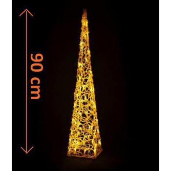Vánoční světelná výzdoba do bytu - svítící kužel venkovní / vnitřní, 90 cm