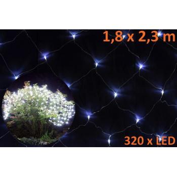 Vánoční výzdoba venkovní / vnitřní - světelná síť z LED diod, 1,8x2,3 m
