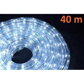 Voděodolný světelný kabel venkovní / vnitřní, bílý, 40 m