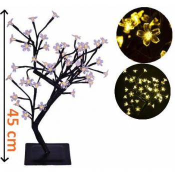Umělý strom se svítícími květy - dekorativní osvětlení do bytu, 45 cm