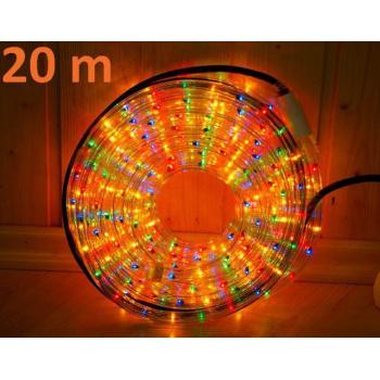 Voděodolný světelný kabel venkovní / vnitřní, barevný, 20 m