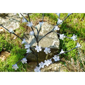 Umělý stromek se svítícími květy, solární napájení, 36 LED, 78 cm