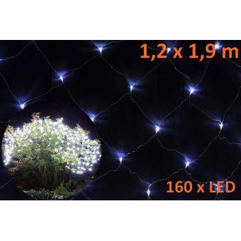 Vánoční světelný závěs- světelná síť venkovní / vnitřní, 1,2x1,9 m