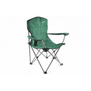 Kempinková židle s ocelovým rámem vč. tašky - skládací, zelená
