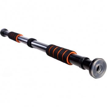 Rozpěrná posilovací hrazda do dveří 63 - 100 cm , černá / oranžová