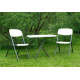 Skládací venkovní stůl s ocelovým rámem- piknik, dovolená atd.