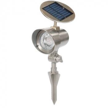 Solární zahradní LED reflektor zapichovací, nastavitelný sklon