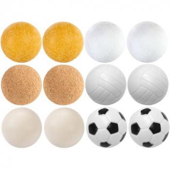 12 ks míčky ke stolnímu fotbalu, různé designy a materiály