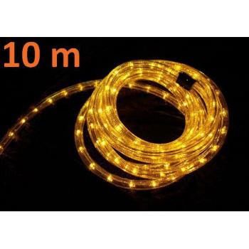 Voděodolný světelný kabel venkovní / vnitřní, žlutý, 10 m, minižárovky