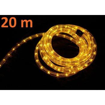 Voděodolný světelný kabel venkovní / vnitřní, žlutý, 20 m