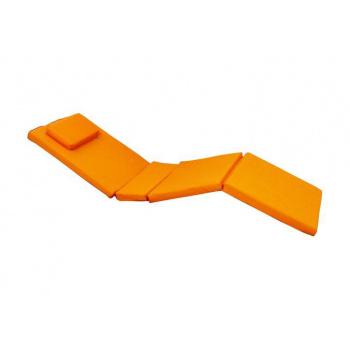 Exkulzivní polstrování na zahradní lehátko, snímatelný potah, oranžové