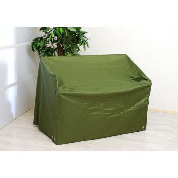 Ochranná plachta na zahradní lavici, zesílené okraje s oky, zelená