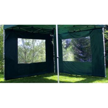 2 boční stěny s okny pro zahradní párty stany, zelená