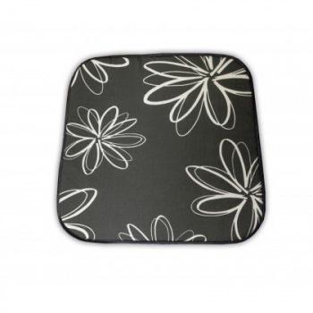 Polstrování - sedák na židli / křeslo, šedý s květy