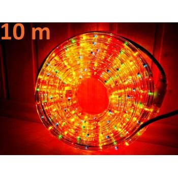 Voděodolný světelný kabel venkovní / vnitřní, barevný, LED, 10 m