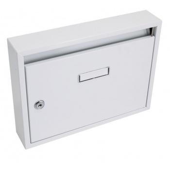 Paneláková poštovní schránka uzamykatelná, přáškový nástřik, bílá