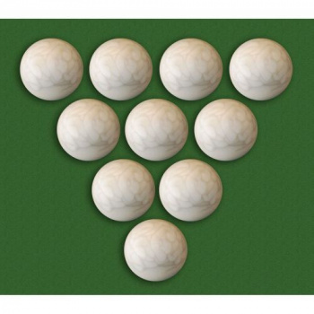 10 ks míčků pro stolní fotbal, profi kvalita, 36 mm, bílé
