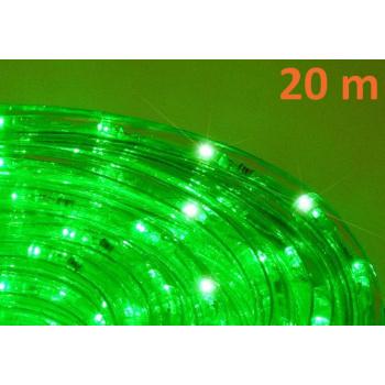 Voděodolný světelný kabel venkovní / vnitřní, zelený, LED, 20 m