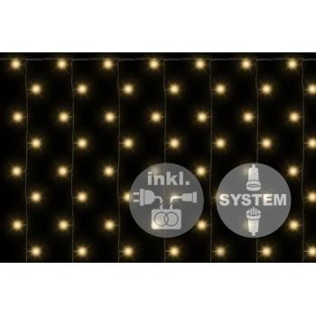 Vánoční světelný závěs / světelná síť 1x2 m, systém diLED