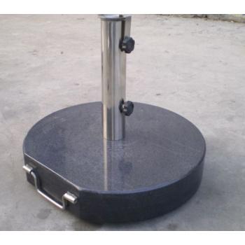 Těžký mramorový stojan na slunečník s držadlem, 40 kg