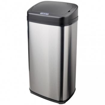 Kuchyňský bezdotykový odpadkový koš s čidlem 42 l, stříbrná / černá