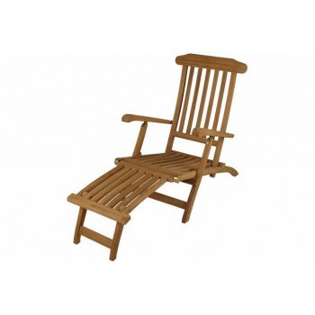 Zahradní dřevěné křeslo / lehátko - odnímatená podložka nohou