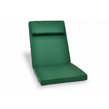 Extra silné polstrování na židli s podhlavníkem, pratelný potah, zelené