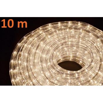 Voděodolný světelný kabel venkovní / vnitřní, bílý, minižárovky, 10 m