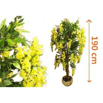 Umělá květina - kvetoucí zlatý déšť jako živý 190 cm