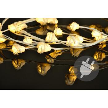 Dekorativní umělé větvičky se svítícími květy růží, 48 LED diod