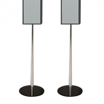 2 ks stojan na reproduktor, sklo / hliník, 73,5 cm