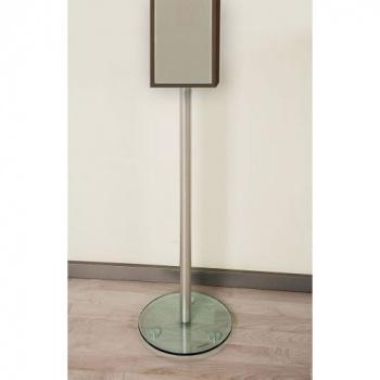 2 ks designový hliníkový stojan na reproduktor 74 cm, hliník / skleněné desky