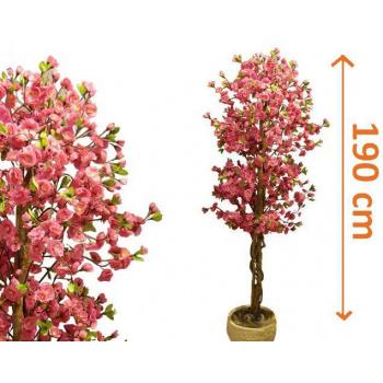 Velká umělá rostlina - rozkvetlý strom jako živý 190 cm
