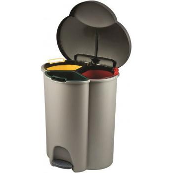 Odpadkový koš na tříděný odpad se třemi nádobami, 59,2 cm