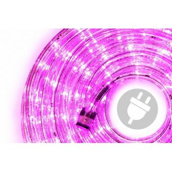 Voděodolný světelný kabel venkovní / vnitřní, růžový, LED, 20 m