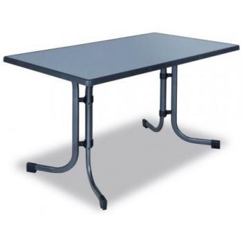 Kovový zahradní stůl obdélníkový - horní deska ze sevelitu
